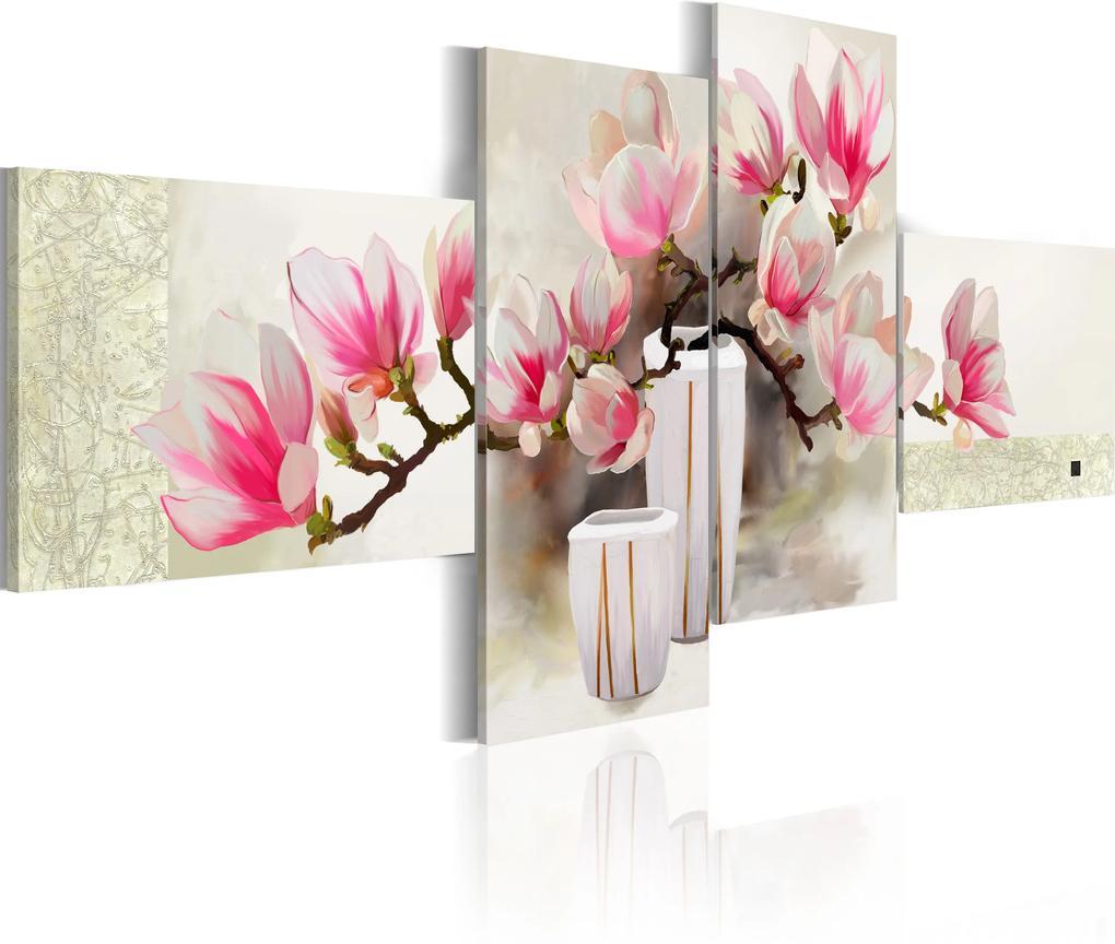 Ručne maľovaný obraz - Fragrance of magnolias 100x45