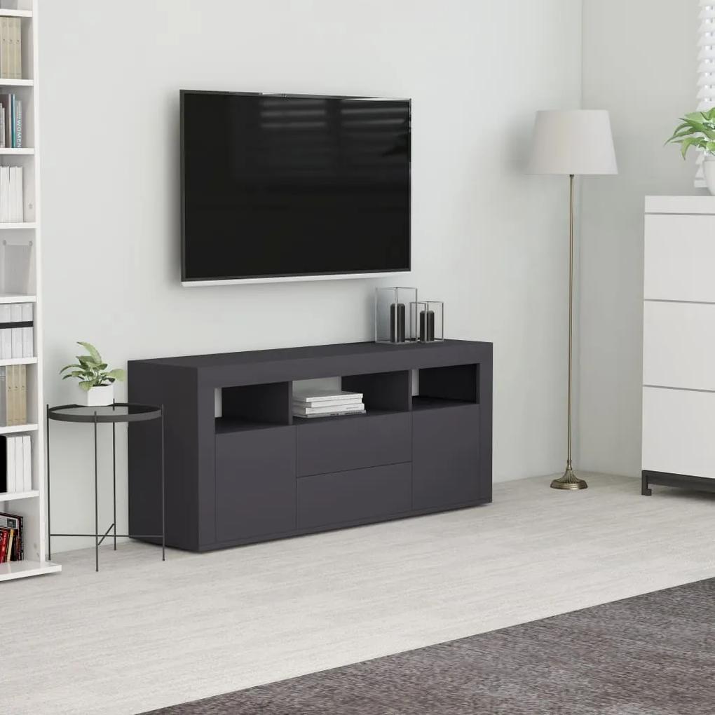 vidaXL TV skrinka, sivá 120x30x50 cm, drevotrieska