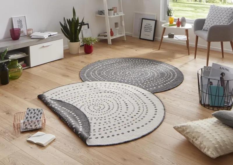 Bougari - Hanse Home koberce AKCE: Kusový koberec Twin-Wendeteppiche 103112 grau creme kruh - 200x200 kruh cm