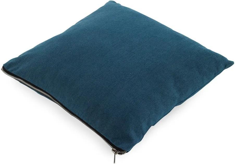 Modrý vankúš Geeso Soft, 45 × 45 cm
