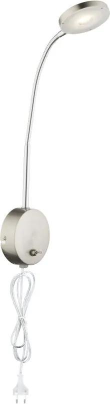 Globo DENIZ 24122W Nástenné Lampy na Čítanie nikel chróm 350lm 3000K IP20 A+