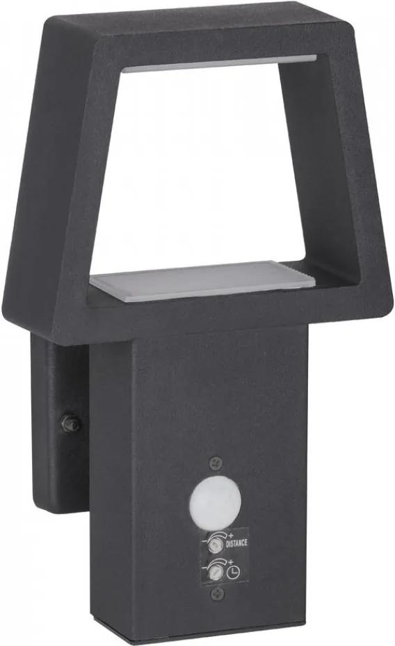 Rábalux Arizona 8668 Vonkajšie Nástenné Svietidlá s Čidlom Pohybu antracit LED 10,5W 145 x 240 mm