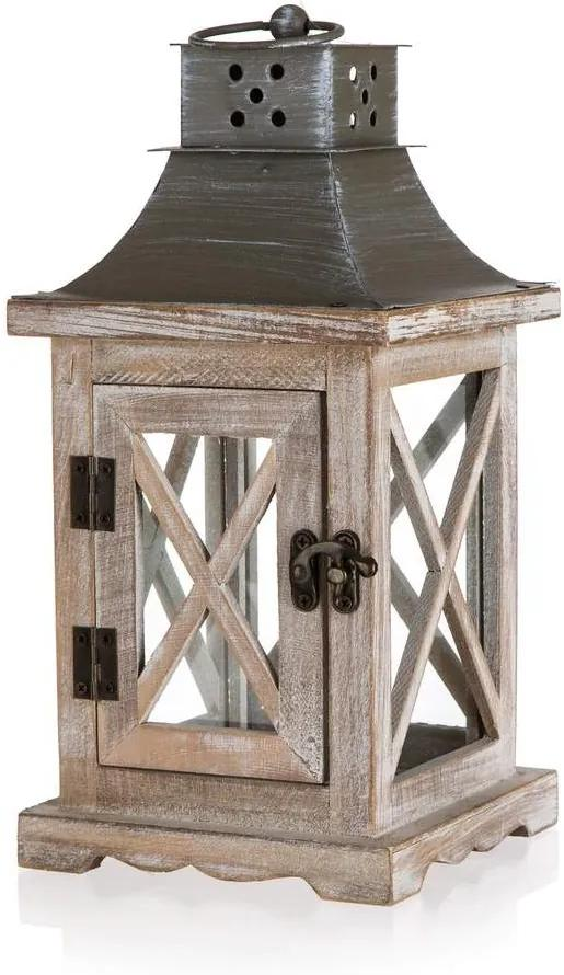 Drevobox Dřevěná lucerna 14 x 29 x 14 cm