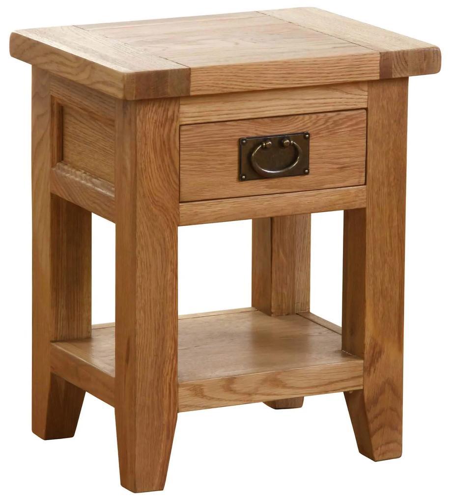 Nočný stolík so zásuvkou a poličkou 450x350x585