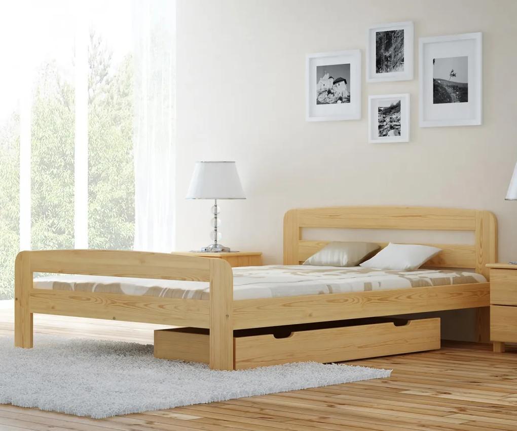 AMI nábytok Posteľ borovica Nastěnka 120x200