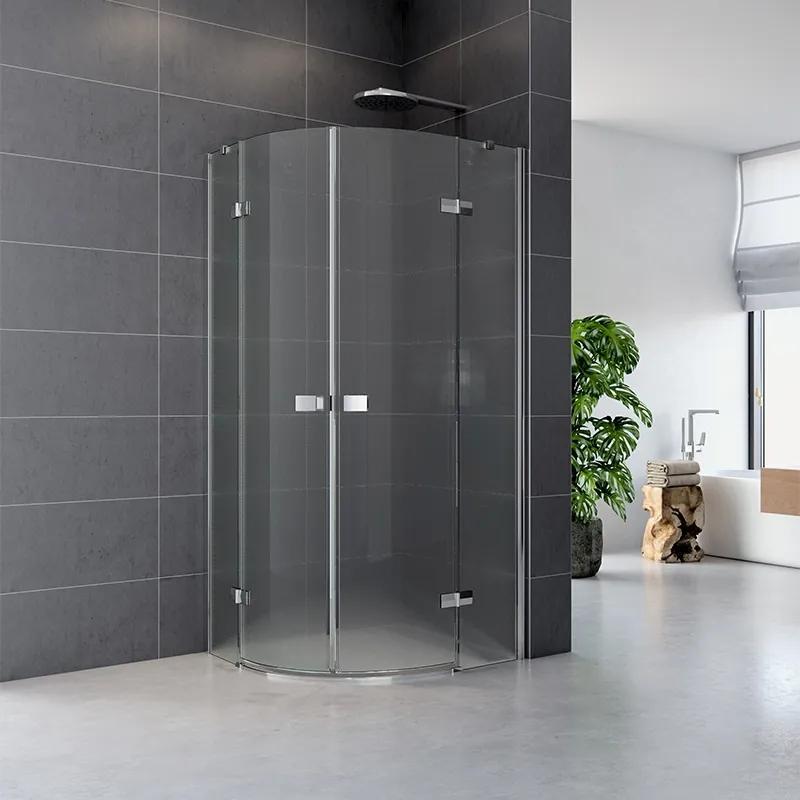 MAXMAX Sprchovací kút, Fantasy, štvrťkruh, 90 cm, R550, chróm ALU, sklo Point