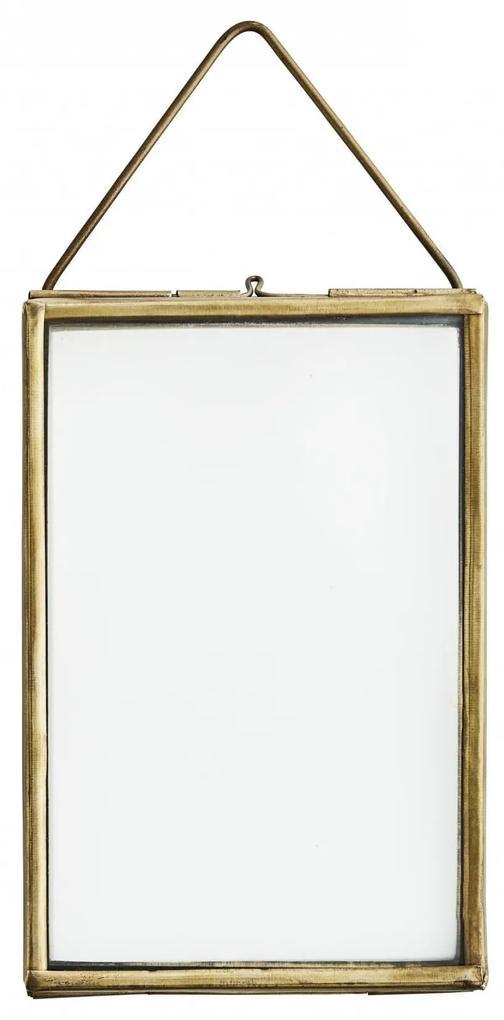 MADAM STOLTZ Závesný fotorámček Antique Brass 15cm