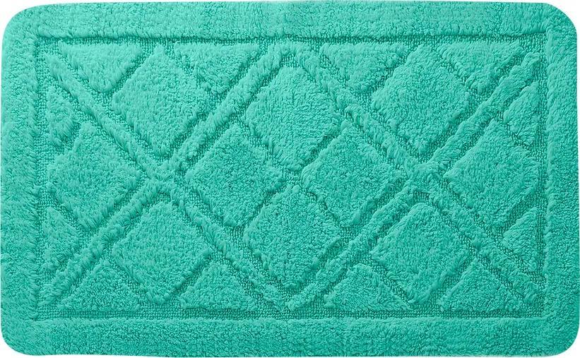 Kúpeľňová predložka Kosoštvorce, mentolová Barva: mentolová, Velikost: 50x80cm
