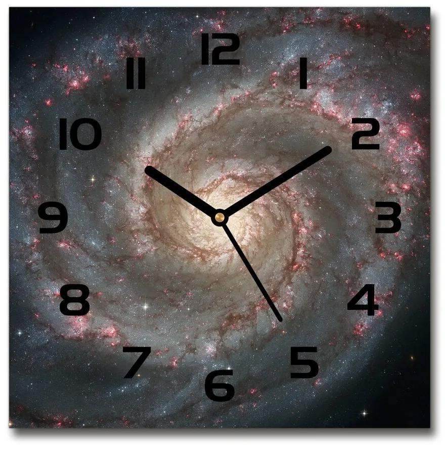 Sklenené nástenné hodiny štvorec Hmlovina pl_zsk_30x30_f_103079639
