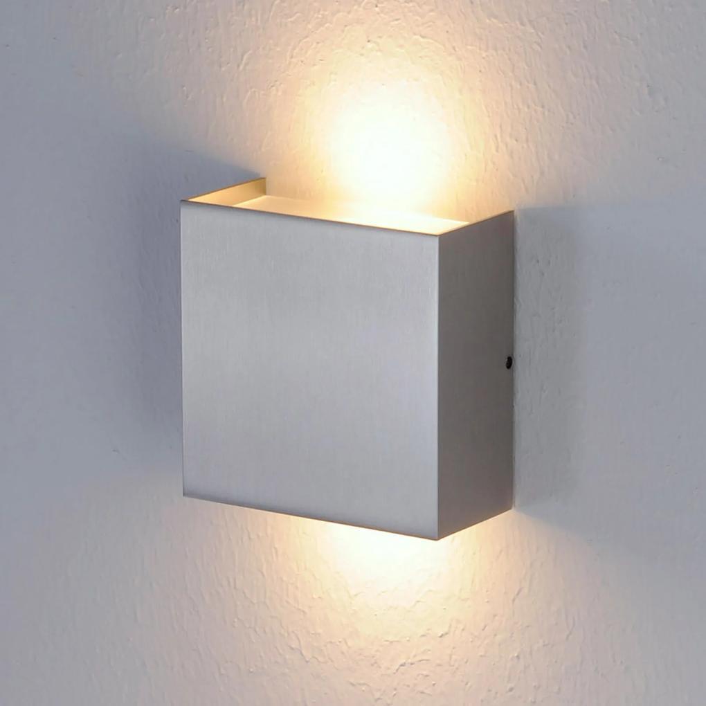 Matná niklová úprava – nástenné LED svietidlo Mira