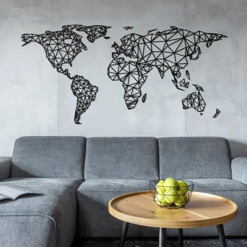Nastenna 3d Mapa Sveta Na Stenu Polygonalny Atlas Biano