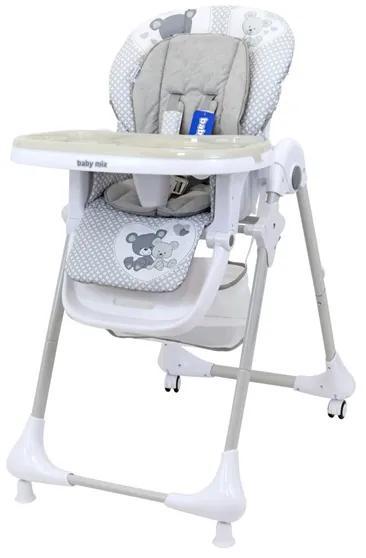 BABY MIX Jedálenská stolička Baby Mix Infant grey Sivá |