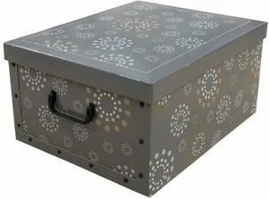 Compactor Skladacia úložná krabica Ring, 50 x 40 x 25 cm, sivá
