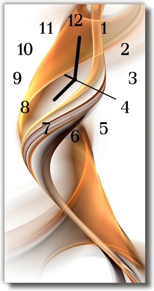 Skleněné hodiny vertikální Umění abstrakce béžová