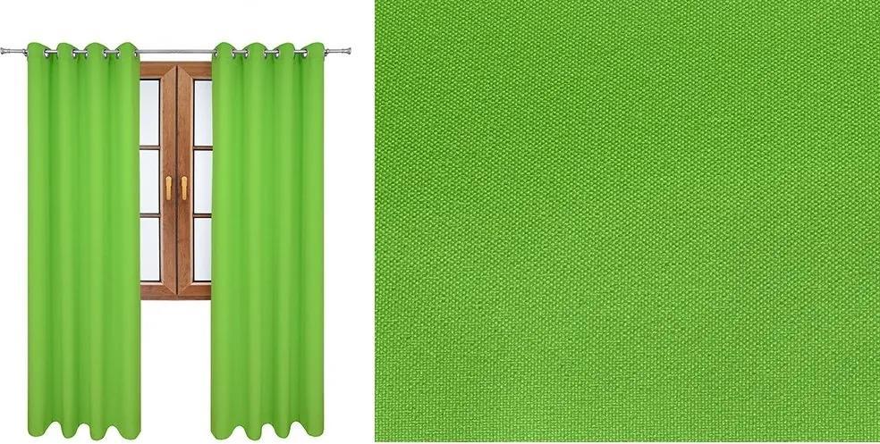 Taliansky hotový záves Vesardi  svetlo zelený (Záves Vesardi s)