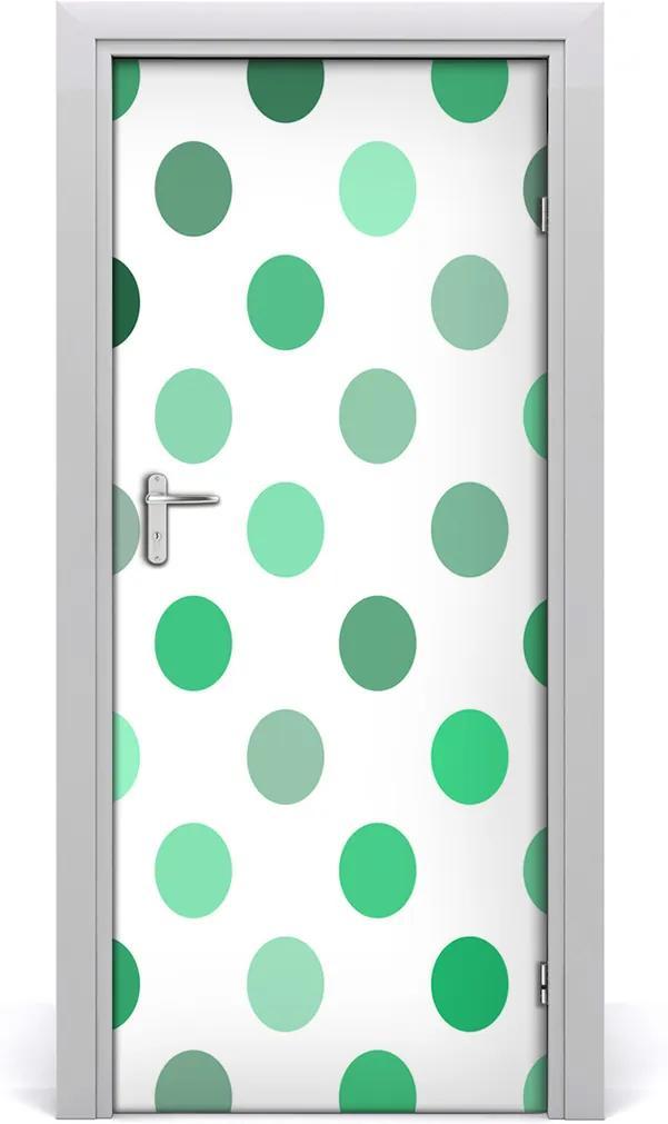 Fototapeta na dveře Zelené tečky