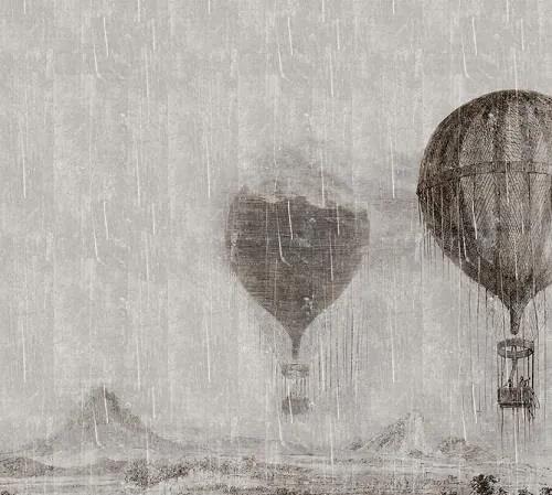 Luxusné vliesové fototapety, rozmer 300 cm x 270 cm, lietajúce balóny, P+S International NT6332023