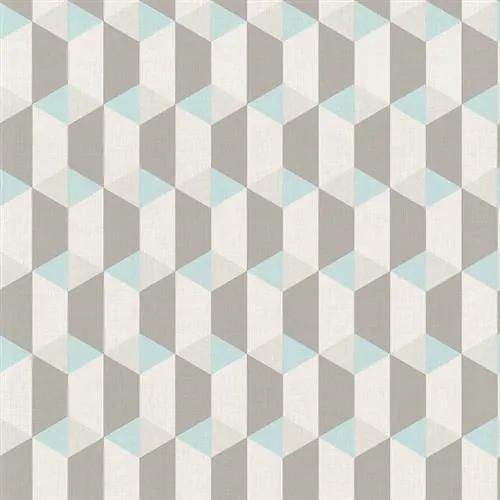 Vliesové tapety na stenu Inspiration Wall IW 3502, kocky modro-sivé, rozmer 10,05 m x 0,53 m, Grandeco
