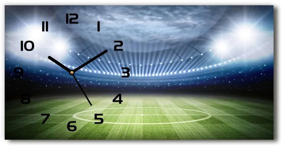 Moderné sklenené hodiny na stenu Štadión pl_zsp_60x30_f_65377404