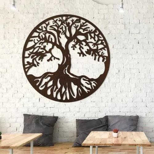 Drevený obraz strom života - Chokmah