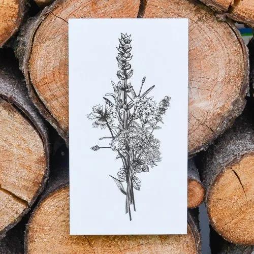 Drevený obraz do jedálne - kvety 2 | 17x31cm, 24,5x45cm