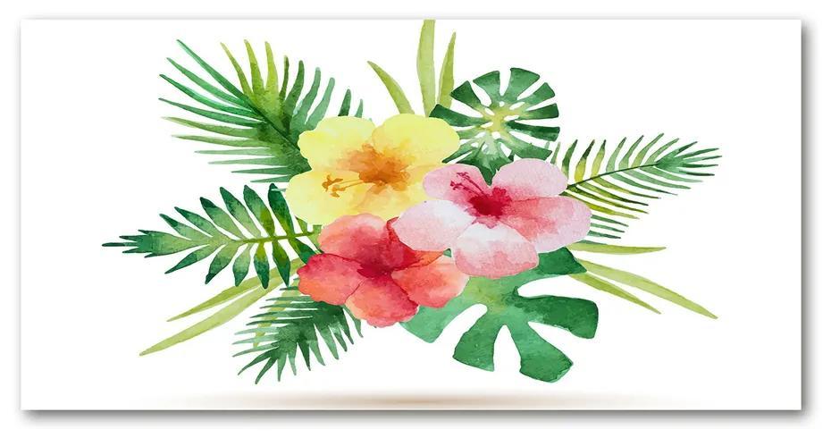 Foto obraz akrylový na stenu Havajské kvety pl-oa-140x70-f-85139888