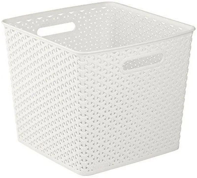 CURVER MY STYLE SQUARE 25L úložný box 32,5x32,5x28cm krémový 03613-885