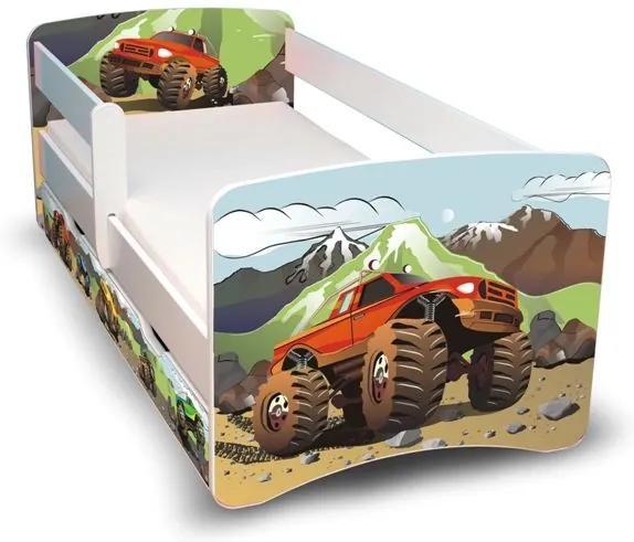 MAXMAX Detská posteľ so zásuvkou 160x80 cm - AUTO II 160x80 pre chlapca ÁNO