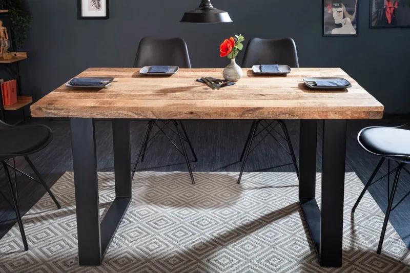 Dizajnový jedálenský stôl Thunder 120 cm mango