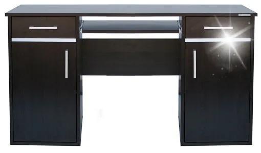 Kancelársky počítačový stôl široký 131 cm - Buk