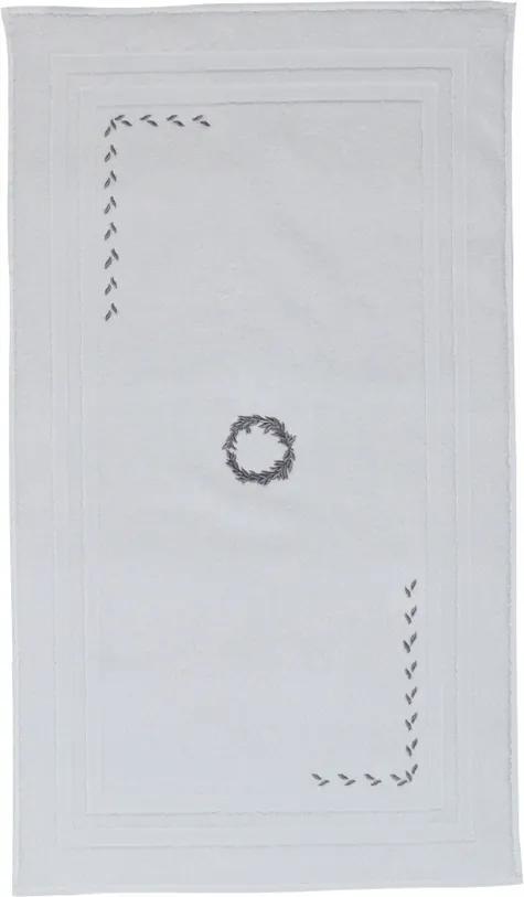 Soft Cotton Kúpeľňová predložka SEHZADE 50x90 cm Biela / strieborná výšivka