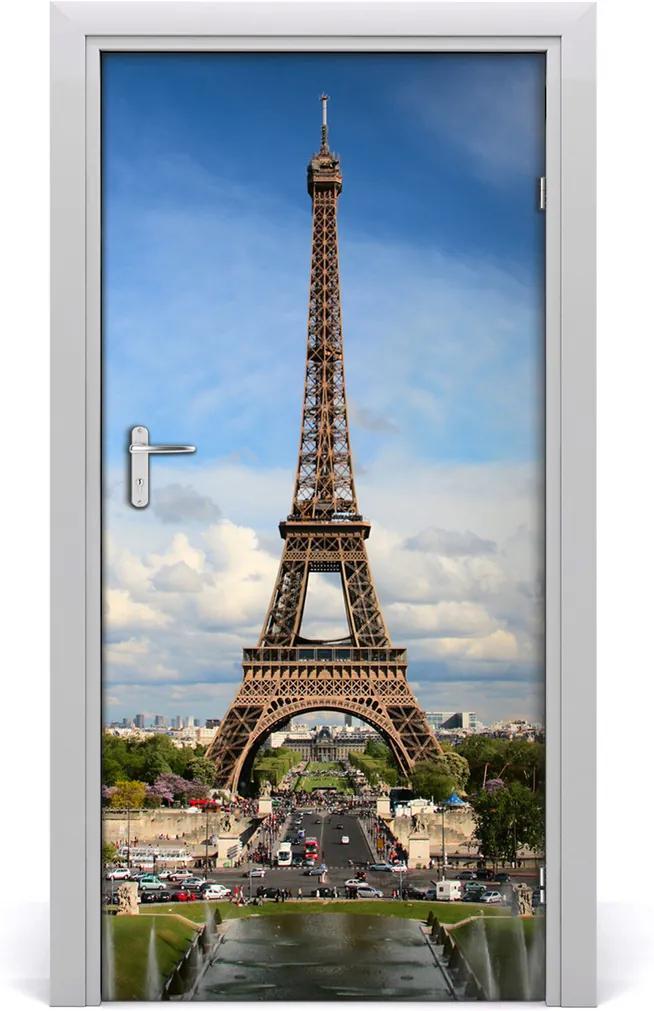 Fototapeta samolepící na dveře Eiffelova věž
