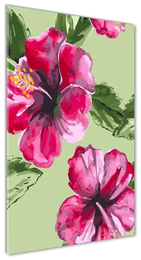 Foto obraz akrylové sklo Havajské kvety pl-oa-70x140-f-81980078