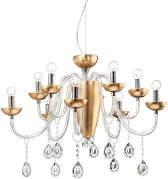 Závesné svietidlo IDEAL LUX Camelia SP10 Oro 125084