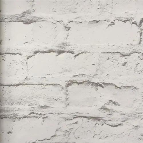 Vliesové tapety na stenu tehlová stena bielo-hnedá 19603, rozmer 10,05 m x 0,53 m, GRANDECO