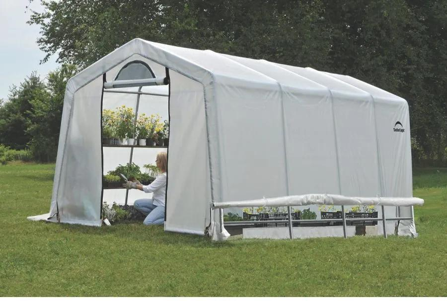SHELTERLOGIC - plachtový skleník SHELTERLOGIC 3,0 x 6,1 m - 35 mm - 70658EU LG1555