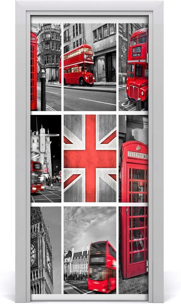 Fototapeta samolepiace na dvere  koláž Londýn