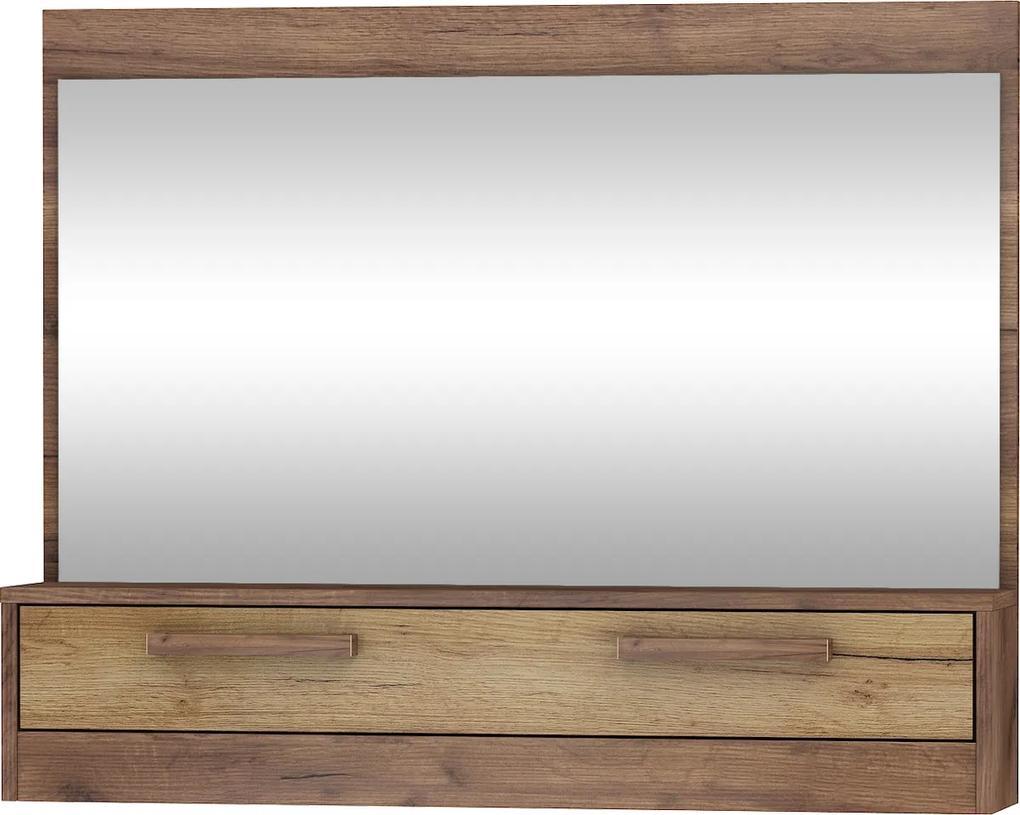 MEBLOCROSS Maximus MXS-14 zrkadlo na stenu craft tobaco / craft zlatý