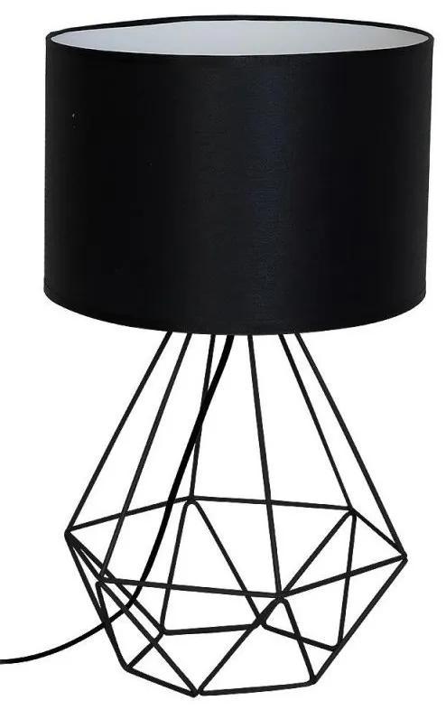 Decoland Stolná lampa BASKET 1xE27/60W/230V čierna DE7201