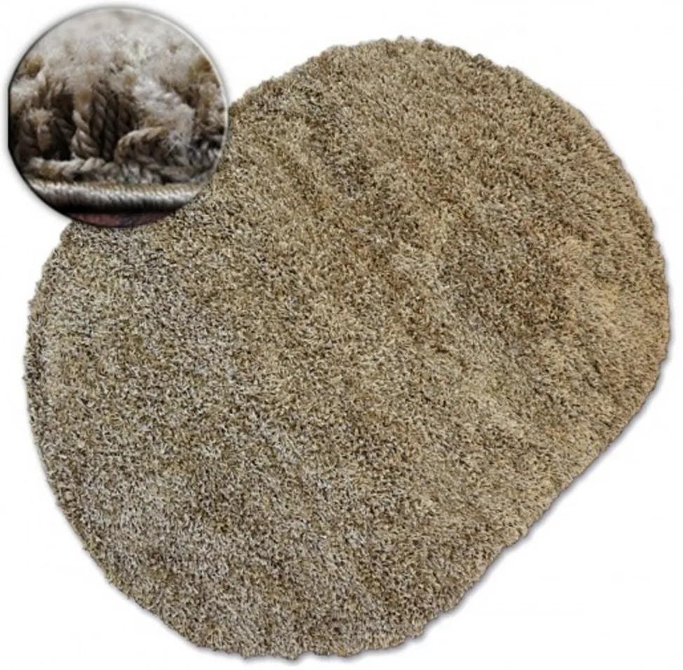 Kusový koberec Shaggy Galaxy béžový ovál, Velikosti 80x150cm