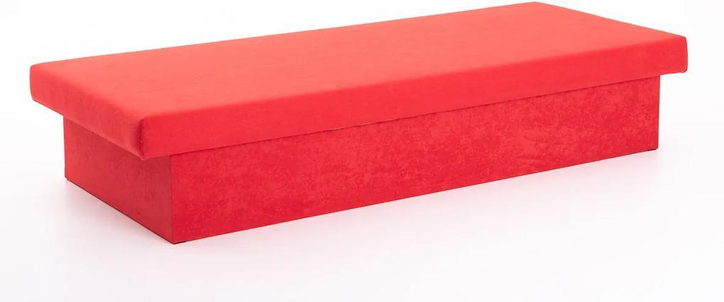 DREVONA Váľanda červená pružinová JANA, Vento X55, 195x80x38 New Red