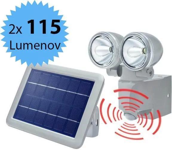 Solárny PIR senzorový reflektor Esotec DUO Power 2 102418