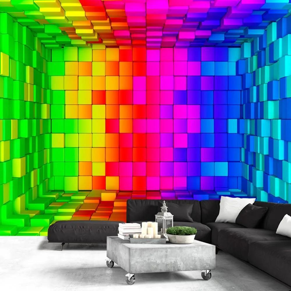 Fototapeta - Rainbow Cube 200x140