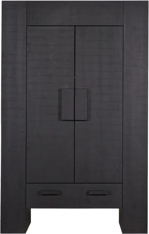 Čierna komoda z borovicového dreva De Eekhorn Hidde
