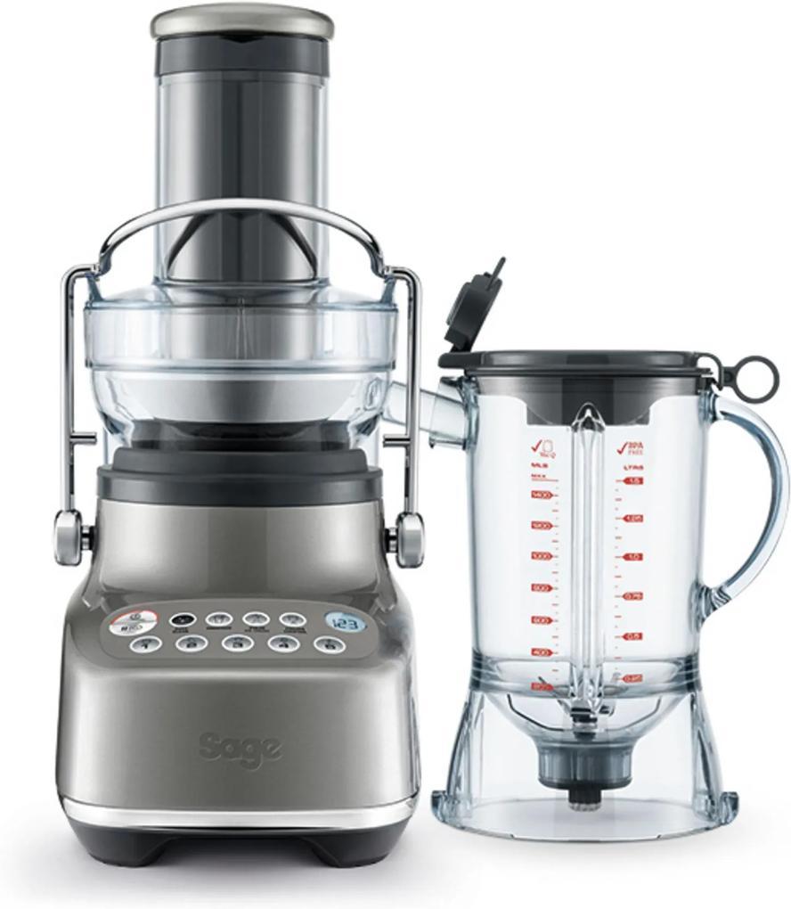 SAGE 3X Bluicer stolný odšťavňovač s mixérom matná šedá, šedá