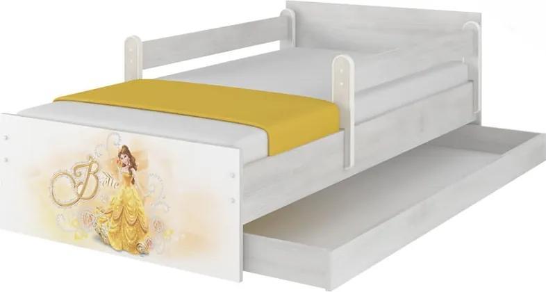 MAXMAX Detská posteľ MAX sa zásuvkou Disney - BELLA 160x80 cm 160x80 pre dievča ÁNO