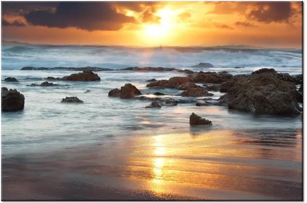 Tlačený obraz Západ slnka nad oceánom 2482A_1T