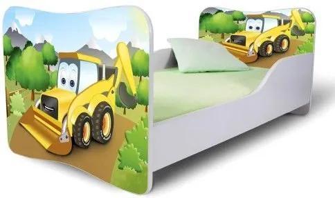 MAXMAX Detská posteľ BAGR + matrac ZADARMO