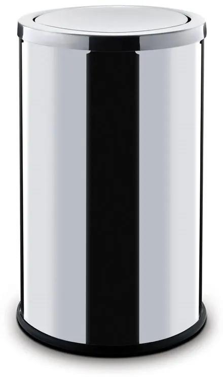 Alda Odpadkový kôš 45 L, s výkyvným vekom, nerez lesklý