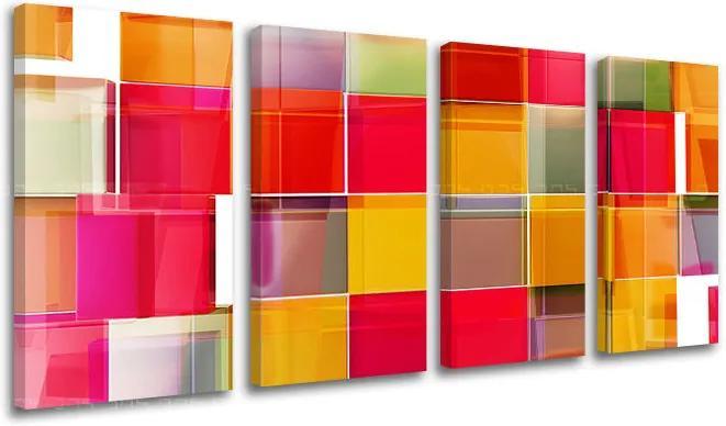 Obraz na stenu 4 dielny ABSTRAKT XOBAB073E41